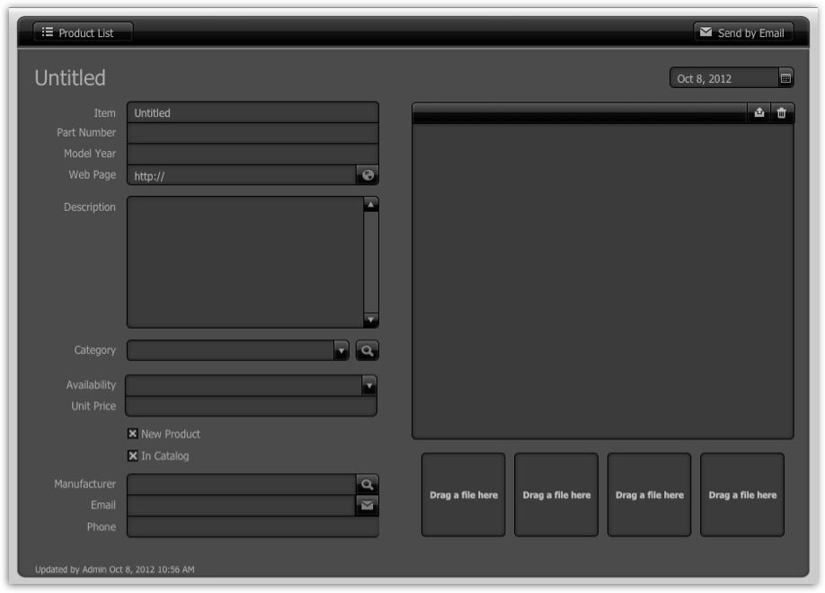 FileMaker 12 Starter Solutions - Product Catalog