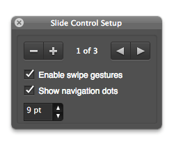 FileMaker Slide Control Status Toolbar
