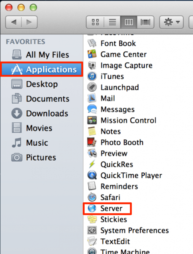 Screenshot 1.1 - Mac OS X Server - Setup Server