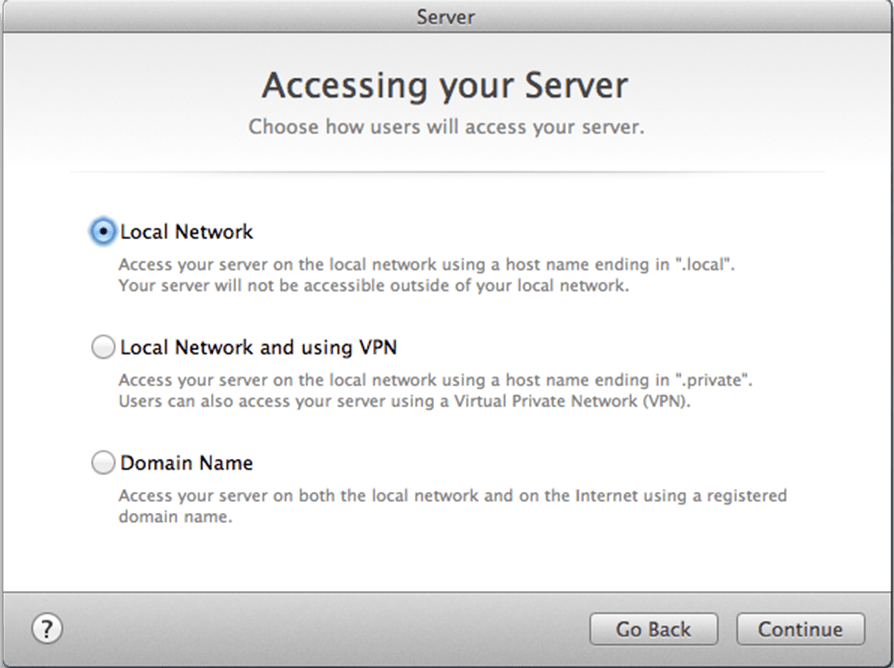 1.2 - Mac OS X Server - Network Type
