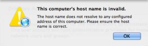 2.2 - Open Directory Setup - Hostname Invalid