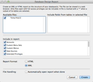 FileMaker - Creating XML DDR