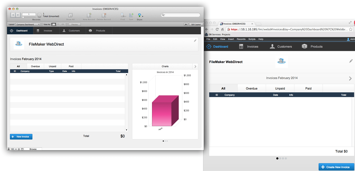 filemaker pro 13 templates - filemaker webdirect db services