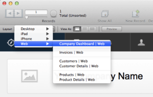 FileMaker WebDirect Use Dedicated Layouts