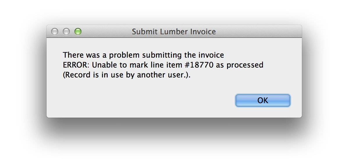 FileMaker Error Message