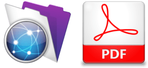 PDF and FileMaker Server icons