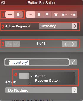 FileMaker 14 Button Bar Settings
