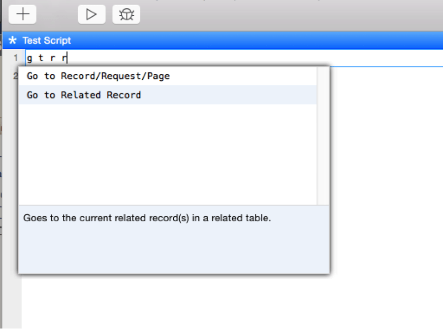 FileMaker Go To Related Records Spaces
