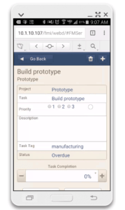android filemaker webdirect