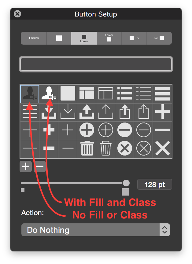 FileMaker Fill vs No Fill