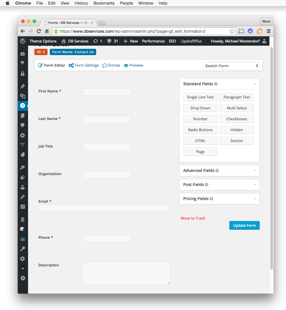 FileMaker WordPress Form