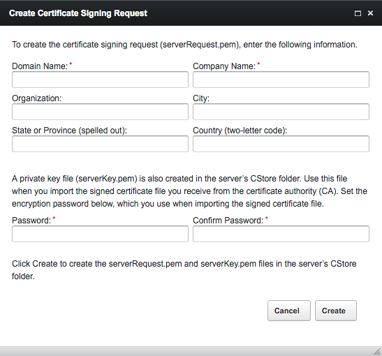 Create Certificate Signing Request