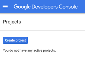 Create Google Project