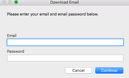 FileMaker - Download Email Dialog