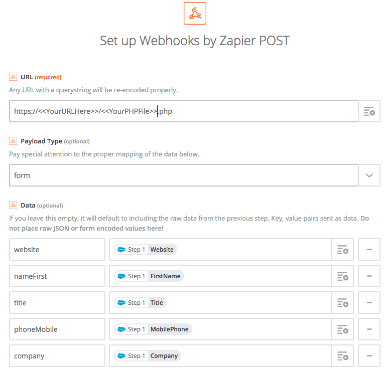 FileMaker Setup Webhooks