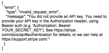 FileMaker And Stripe Error Object