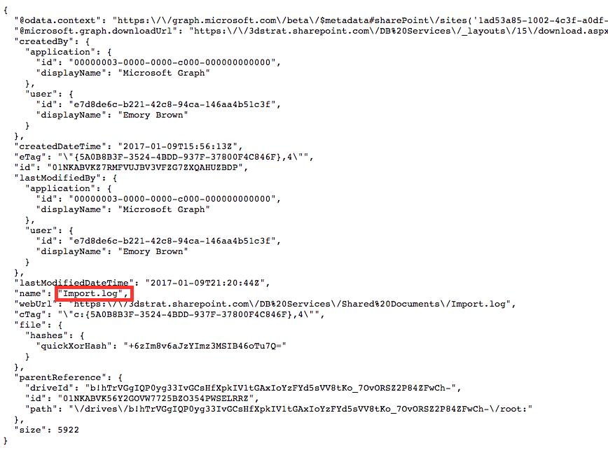 filemaker sharepoint item response code