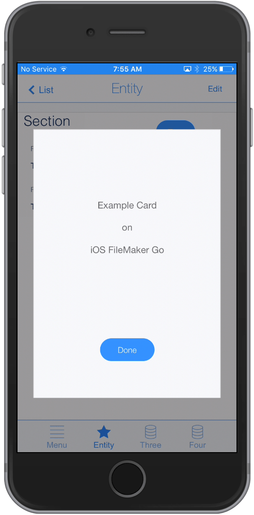 iOS, filemaker go, card window, filemaker 16