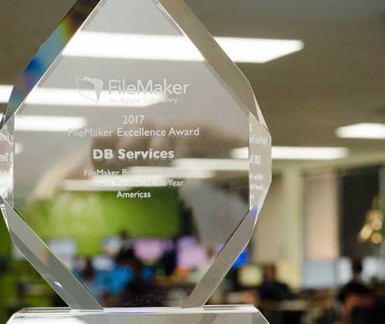 DB Services Awarded FileMaker Excellence Award 2017
