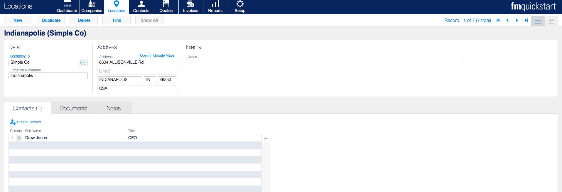 fm quickstart 17 locations