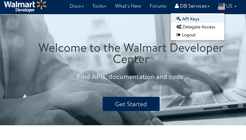 FileMaker Walmart Developer Center
