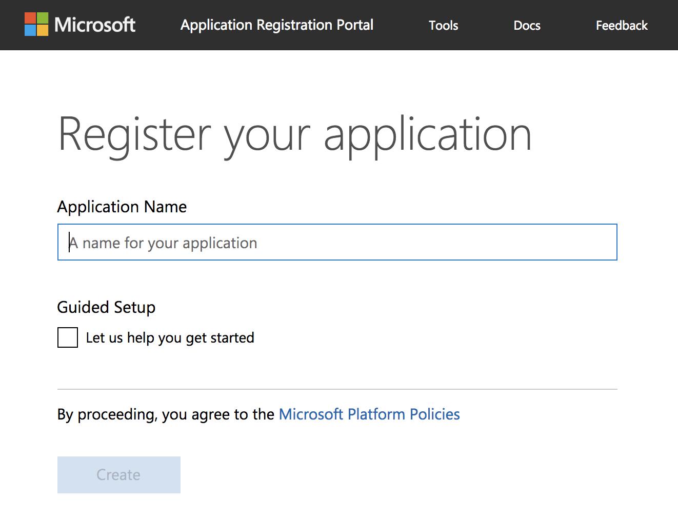 Microsoft Graph Application Registration