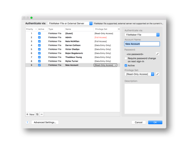 FileMaker 18 Security Enhancements
