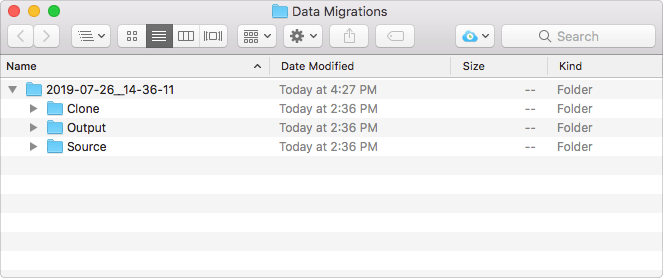 FM Data Migration Companion Folders