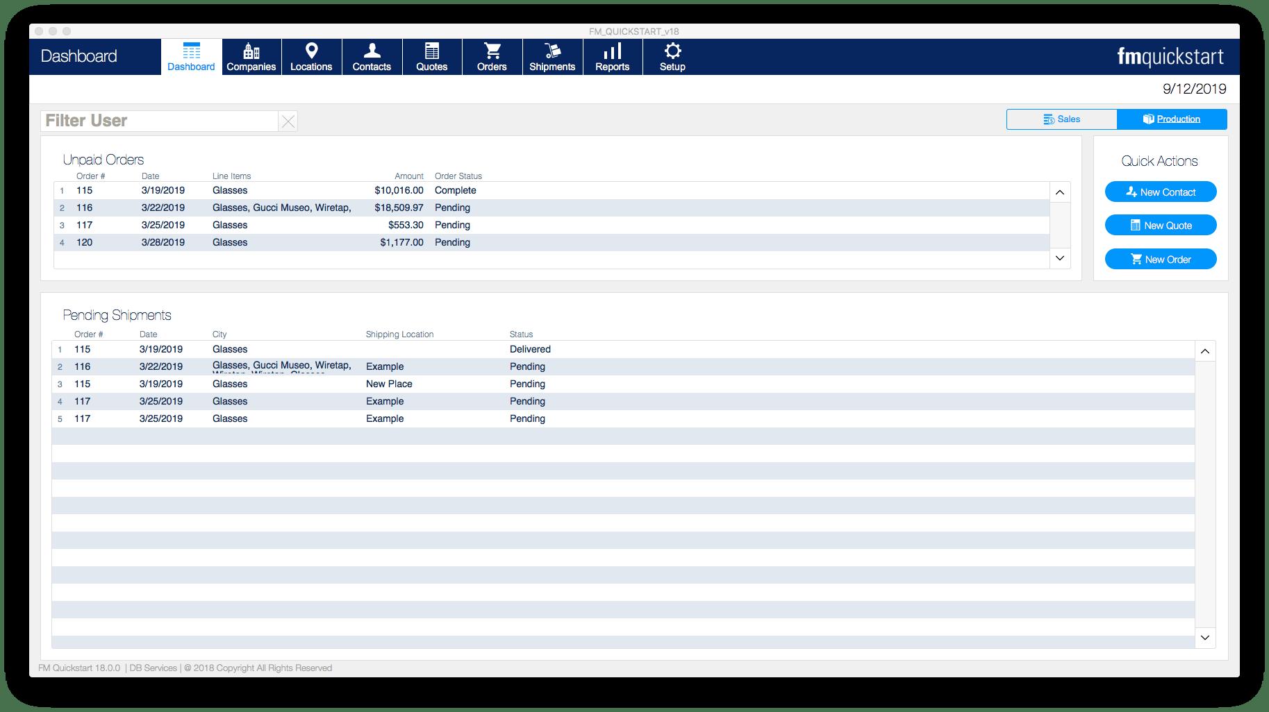 FM Quickstart Production Module