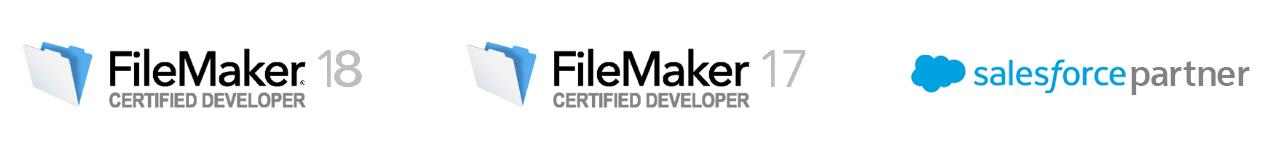 FileMaker 18 Certified Developer, FileMaker 17 Certified Developer, Salesforce Partner