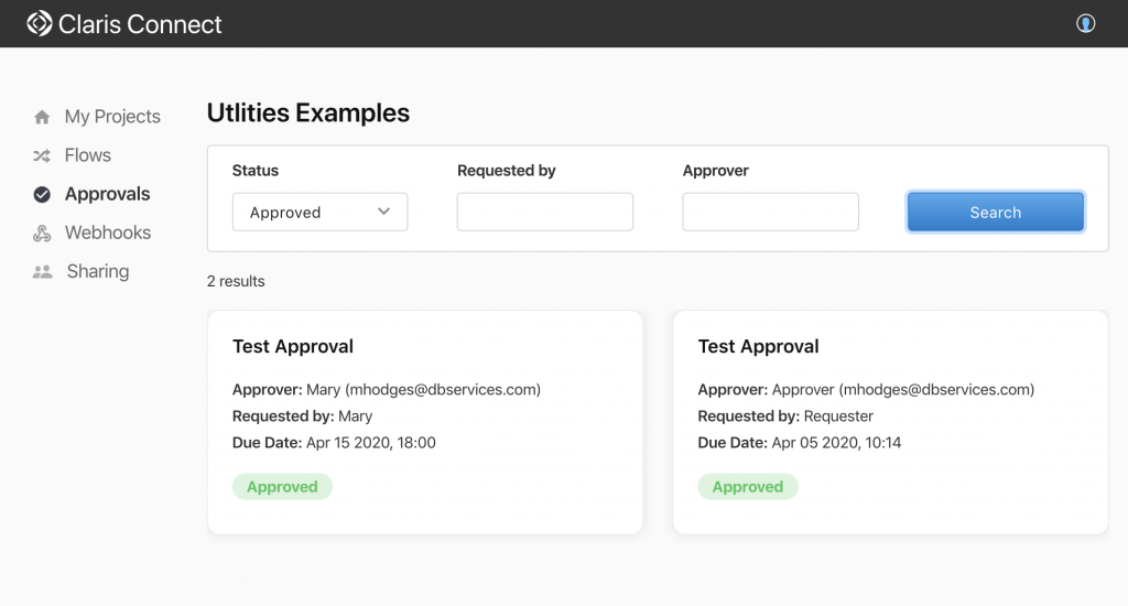 claris connect manage approvals