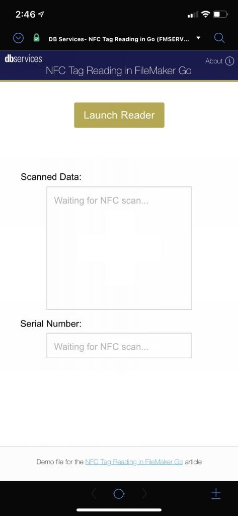 Apple-supplied UI to scan NFC